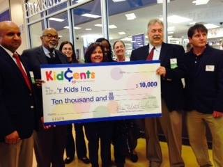 'r kids Family Center was selected to participate in Rite-Aid's KidsCents Program and to receive a $10,000 unrestricted donation.