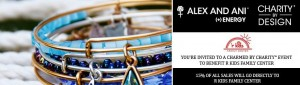 """'r kids Family Center hosted Alex and Ani in a """"Charmed for Charity"""" event in which 15% of the sales was donated to 'r kids Family Center."""